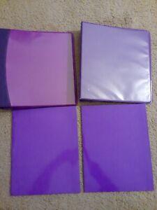 Avery Heavy Duty 3 Ring Binder (2) /  1.5 Inch + (2)  Two pocket folders Purple