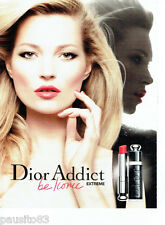 PUBLICITE ADVERTISING 096  2012  Dior  rouge à lèvres Addict  extrem & Kate Moss