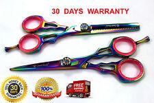 "Professional Salon Shear Hair Cutting Scissor Set, Titanium Multi Color 5.5"""