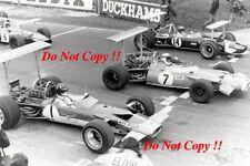 Graham Hill Gold Leaf Team Lotus 49B F1 Race of Champions 1969 Photograph 1