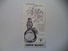 advertising Pubblicità 1960 GRAPPA CARPENE' MALVOLTI