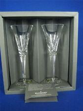 "WATERFORD LAUREL WREATH Pair of Boxed 9"" Tall Champagne Flutes NIB"