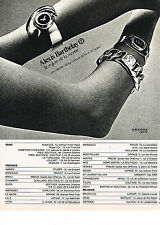 PUBLICITE ADVERTISING 024   1972   ALEXIS BARTHELAY    collection montres