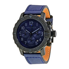 Nautica NMS 01 Chronograph Navy Blue Dial Mens Watch NAI21005G