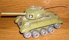 GAMA Panzer Blechspielzeug Tank M98 mit Schussfunktion mit Antenne