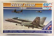 ESCi ERTL Desert Storm F-18A Hornet Model Kit - 1:72 Scale (9117)