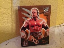WWE TRIPLE H ROYAL RUMBLE 2002 AKA THE GAME FLEER TRADING CARD #79 & HOLDER