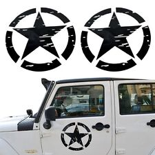 2x US Army Military Star Car Sticker Decal for Car Truck Ford F150 Jeep Wrangler