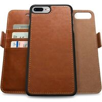 Magnetic Detachable Removable Wallet Leather Folio Flip Case For iPhone X 8 Plus