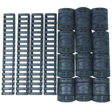 """Black Quad Rail Cover Set - 12 PCS Snap on Covers + 4 PCS 7"""" Ladder Covers"""