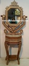 ANTIQUE STYLE  INDIAN INLAID MIRROR 5Feet Height