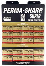 PERMA SHARP SUPER DOUBLE EDGE -DE- RAZOR BLADES 100 Pieces FREE POSTAGE