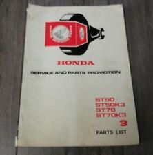 USED HONDA ST50 ST50K3 ST70 ST70K3 PARTS LIST 1309804