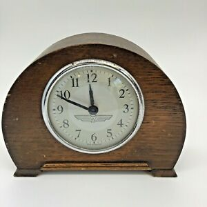 Vintage WINGED W  (WOLSELEY) MADE  IN ENGLAND wind-up MANTLE clock