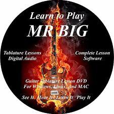 Mr Big Guitar TABS Lesson CD 71 Songs + Backing Tracks + BONUS!!