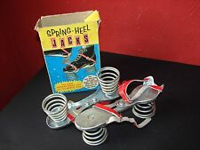 Vintage Spring-Heel Jacks Pogo Spring Shoes 1970's Space Age/Astronaut Toy