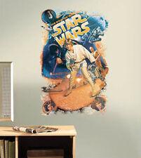 STAR WARS RETRO mega MURAL decal 1 huge wall sticker Luke Skywalker  Han Solo