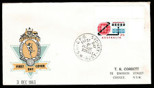 1963 C'WEALTH PACIFIC CABLE PRE-DECIMAL STAMP HASLEM FIRST DAY COVER #63.49