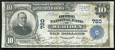 1902 $10 THE HOME NATIONAL BANK OF MERIDEN, CT NATIONAL CURRENCY CH. #720