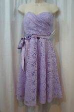 Marina Dress Sz 10 Amethyst Purple Strapless Lace Belted Cocktail Dinner Dress
