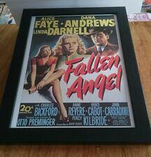 Fallen Angel - Classic Hollywood Movie Poster 1945 Film Noir Framed 14x10