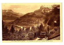 CPA 74 Haute Savoie Saint-Gervais-les-Bains Les Aiguilles de Varens et Tramway