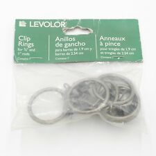 "Levolor Clip Rings for 3/4"" & 1"" Rods Pack of 7 Antique Pewter"