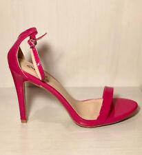 Fuschia Pink Open Toe Ankle Strap Women Shoe Size 8