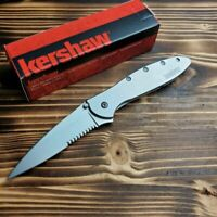 Kershaw 1660ST Ken Onion Leek Combo Edge Assisted Open Framelock Folding Knife