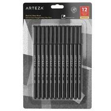ARTEZA Pens, Fine, Inkonic, Black, Set of 12