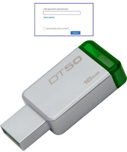 Password Protected 16 GB Kingston DT Secure USB Flash Drive Memory Pen Stick