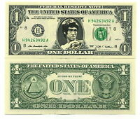 BRUCE LEE VRAI BILLET 1 DOLLAR US ! Collection Art Martiaux Kung Fu  Wing Chun 3