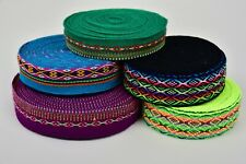 Wool Ribbon Lace Manta Fabric by Yard Artisan Handmade Peru Trimming Ethnic Boho