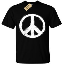 PEACE SYMBOL T-Shirt mens sign world fashion top nature love