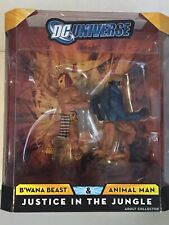 DC UNIVERSE CLASSICS JUSTICE IN THE JUNGLE 2 PACK ANIMAL MAN & B'WANNA BEAST New
