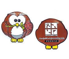 Schuuhuu the Owl  Geocaching Geocoin trackable Owl Coin Travelbug Geo-Versand