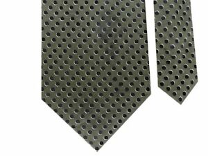 "Banana Republic Men's Silk/Wool Knit Polka Dot Neck Tie Olive Black 3 7/8"" x 56"""