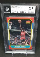 1986 Fleer Basketball Michael Jordan ROOKIE RC #57 BGS 3.5 8, 8.5,9
