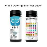 50pcs 6 in 1 Strips PH KH GH Aquarium Fish Tank Water Quality Test Papers
