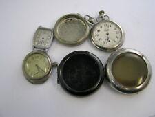 Vintage Pocket & Wrist Watch Parts Lot