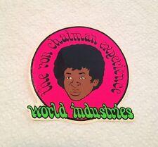 Vintage skateboard sticker ron chatman world industries experience  blind NOS