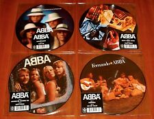 """ABBA 4x 7"""" PICTURE DISC 40th VINYL Lot DANCING QUEEN KNOWING MONEY FERNANDO New"""
