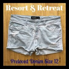 Distressed Denim Shorts, Preloved, Size 12, Jay Jays, Great Condition, Mid Rise