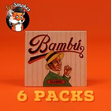 6 Packs Bambu Classic Cigarette Rolling Papers Natural Authentic USA