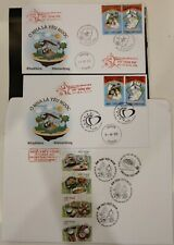 2 FDC Vietnam with different cancellations 2020 : Anti NCovid / Fighting Virus