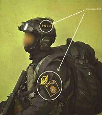 SWEDEN SWEDISH POLISEN POLIS PIKETEN PIKETENHETEN vel©®Ø SWAT 3-INSIGNIA SSI SET