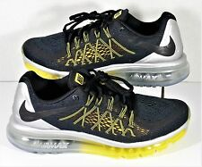 new york 57716 5a17c Nike Air Max 2015 Black   Silver   Yellow Running Shoes Sz 8.5 NEW 698902  070