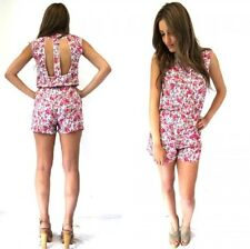9066c84146 MADISON SQUARE Floral Cut Out Back Forever Playsuit New SIZE L RRP  69.99