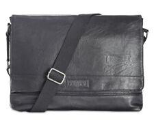 Kenneth Cole Mens Pebbled Messenger Bag In Black