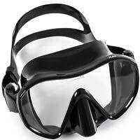 Adventure At Nature Kai Black Scuba Free Dive Spearfishing Adult Snorkeling Mask